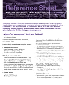 freezemaster AHJ reference sheet